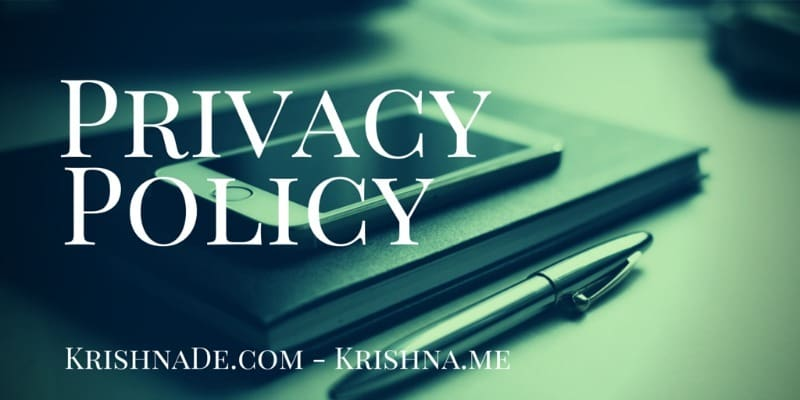 Privacy Policy For Krishna De Web Properties