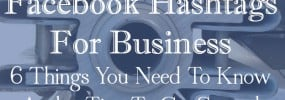 Facebook hashtags for business presentation