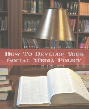 How to develop your social media policy - resources from @KrishnaDe