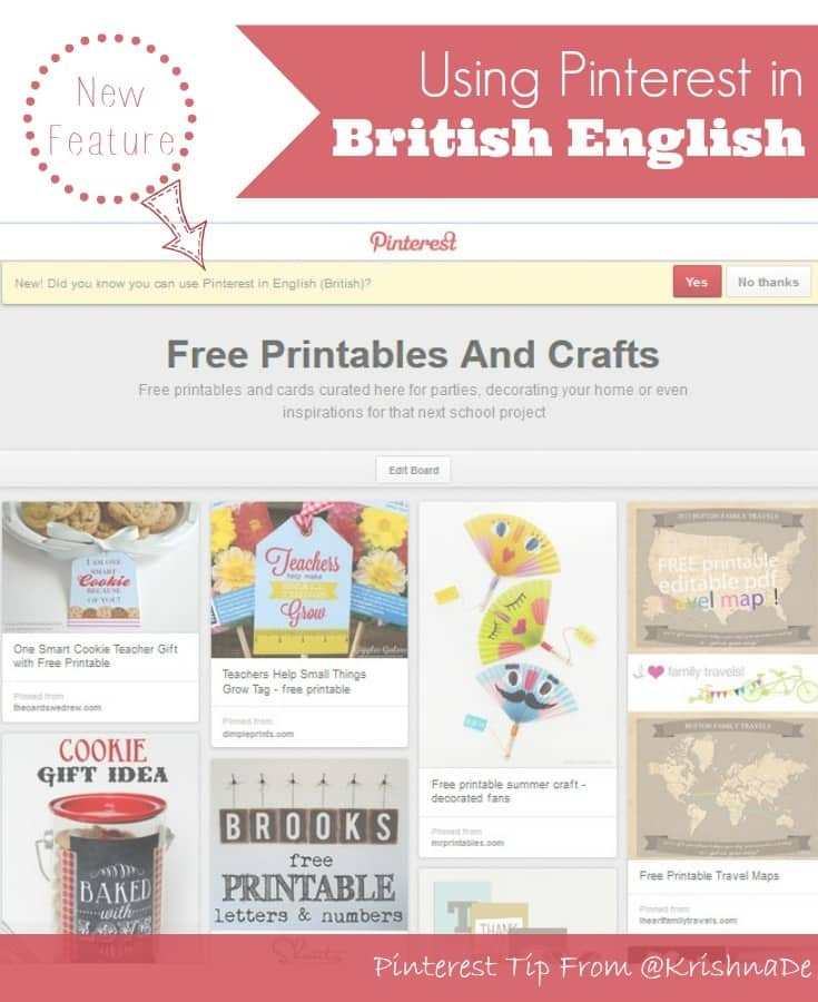 Pinterest Tip - Using Pinterest in British English #pinitforwarduk