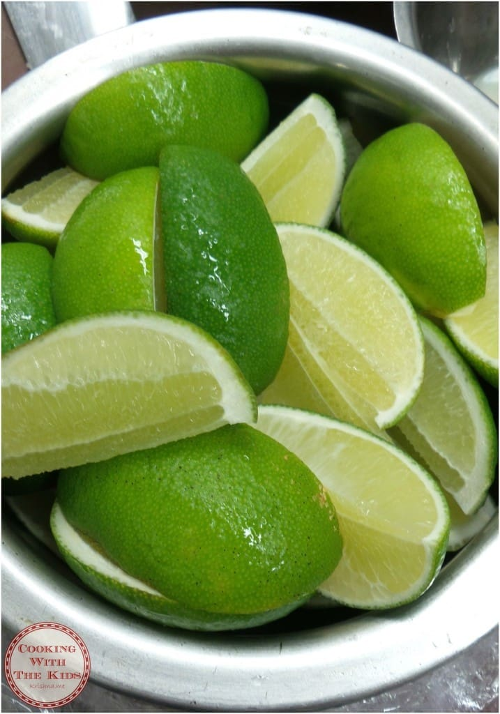 Cooking With The Kids - Cooking Thai Food At Saba To Go - fresh limes for the Tom Yaam Goong soup