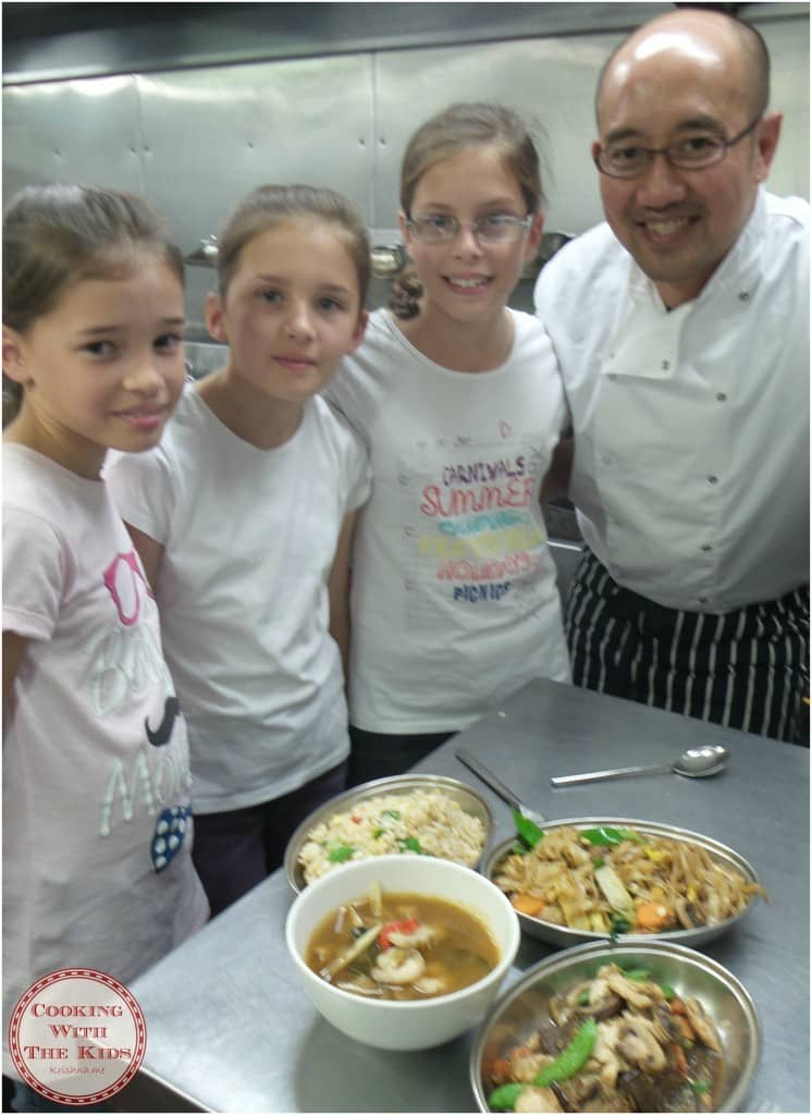 Cooking With The Kids - Cooking Thai Food At Saba - the finished dishes