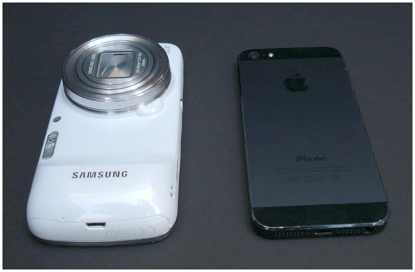Samsung Galaxy S4 Zoom Review by Krishna De - comparing the profile to the iPhone5