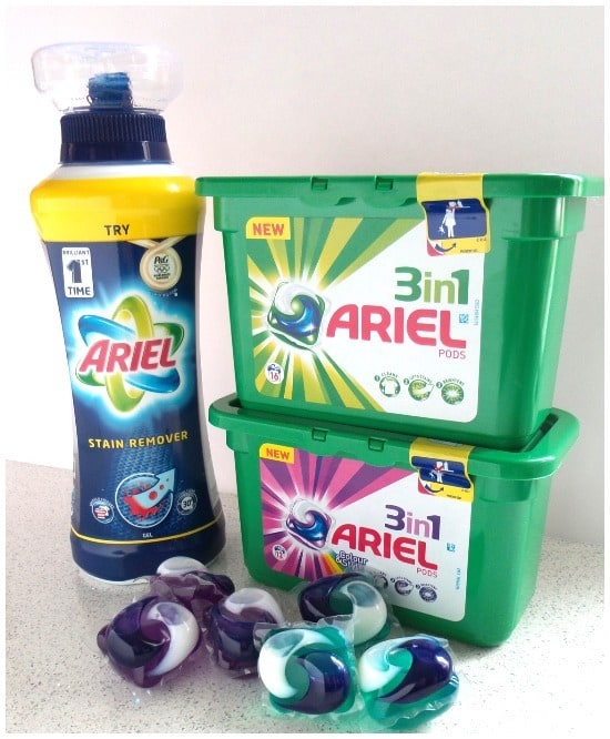 Testing the new Ariel stain remover and the Ariel 3in1 Pods