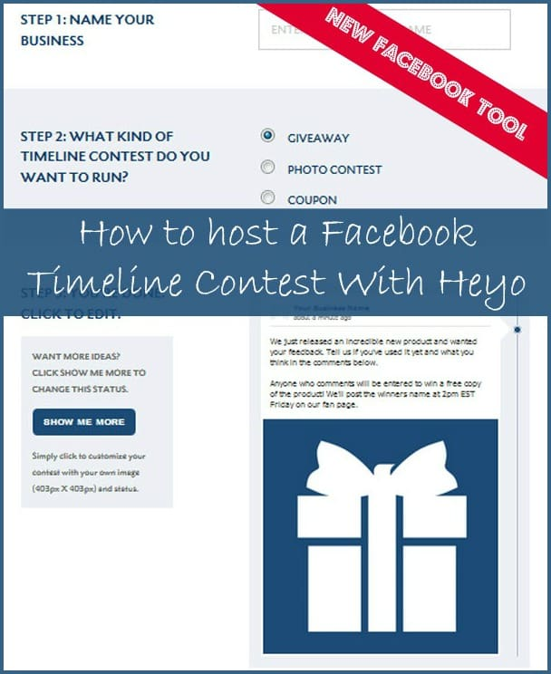 Facebook timeline promotion creator from Heyo - Facebook marketing tips from @KrishnaDe