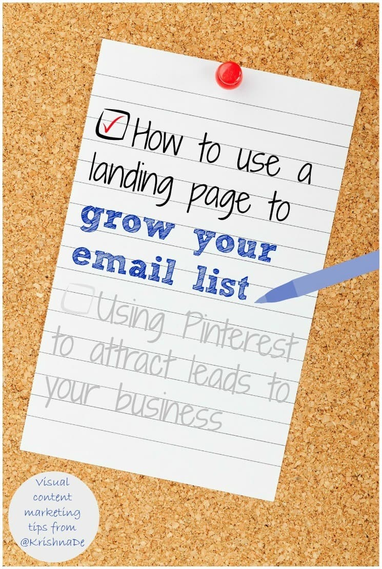 How to use a landing page to grow your email list by Krishna De