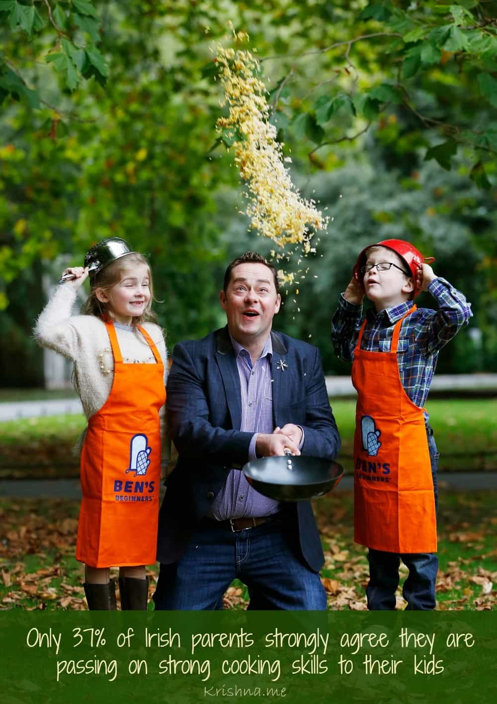 Only 37 percent of Irish parents strongly agree they are passing on strong cooking skills to their kids