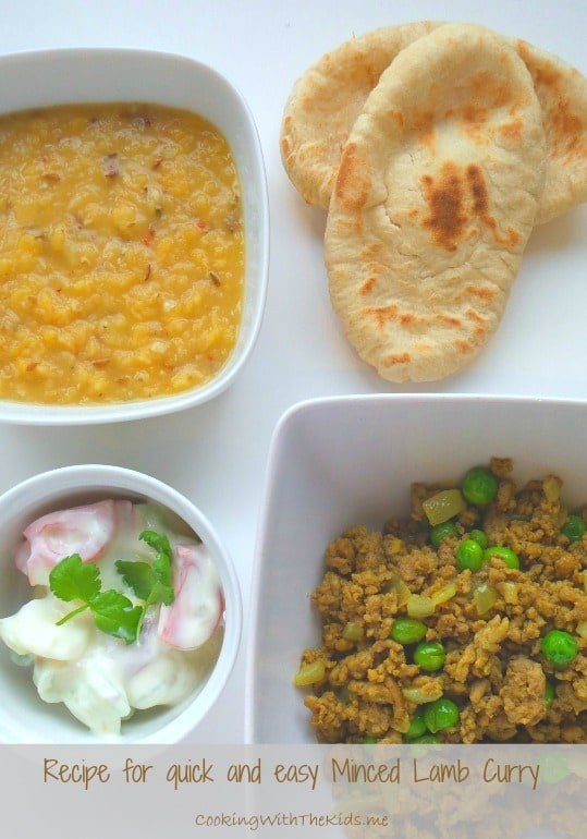 A quick and easy recipe for a mildly spiced minced Lamb Curry