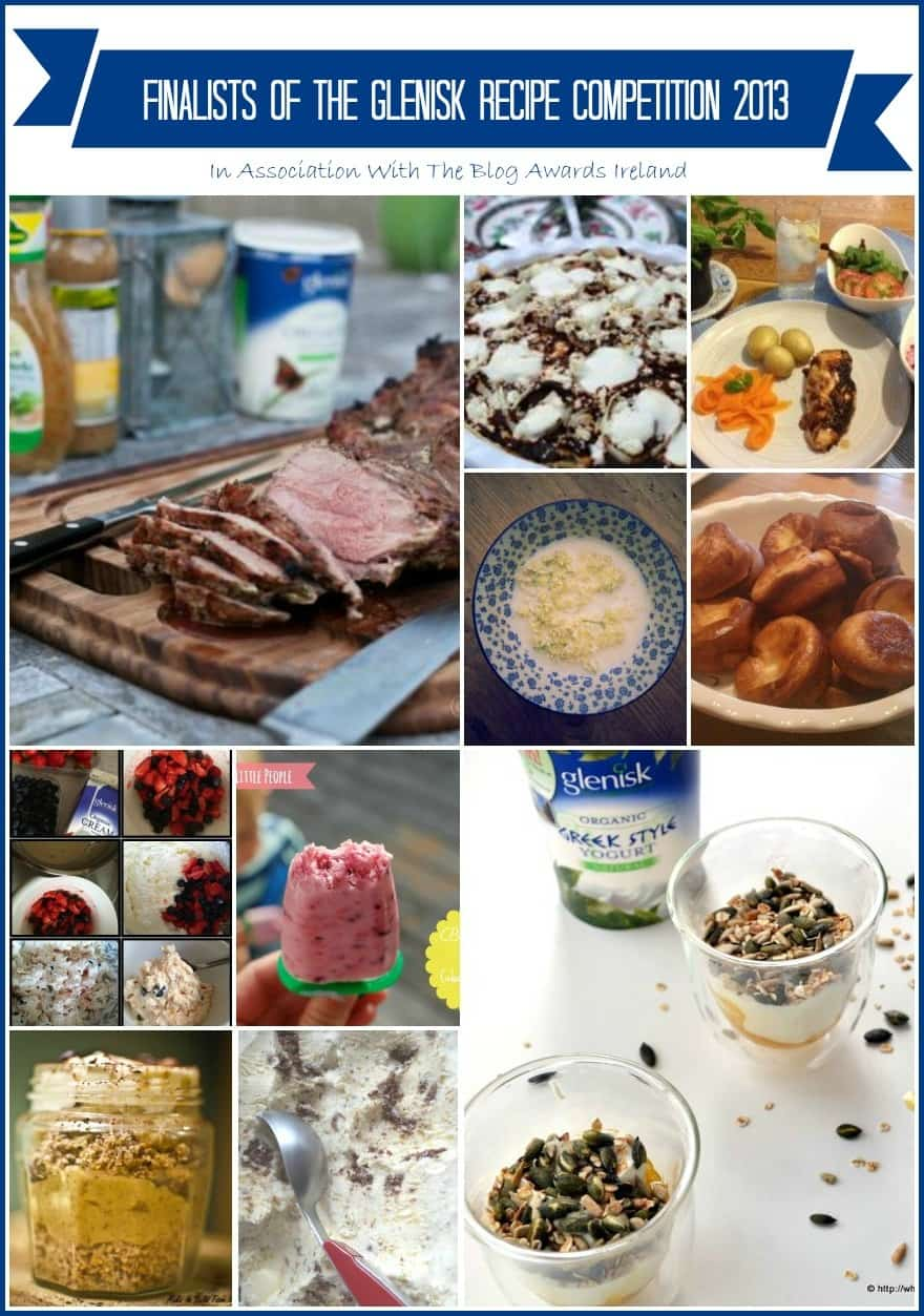 Recipes From the Glenisk Blog Awards Ireland Recipe Competition Finalists 2013