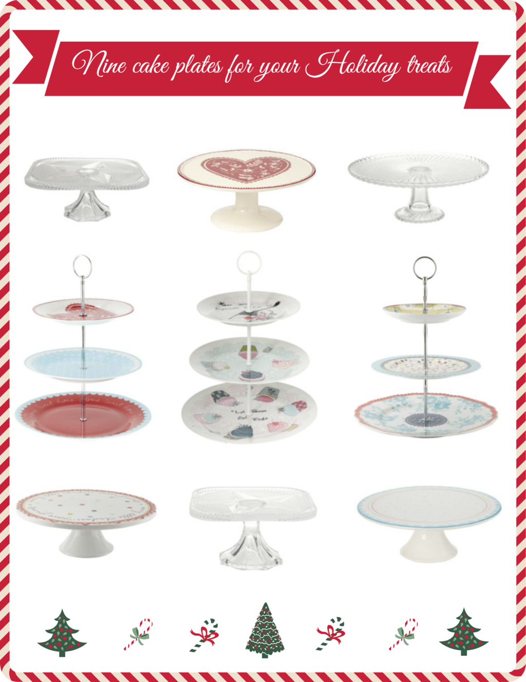 Nine cake plates for your Holiday treats selected by @KrishnaDe