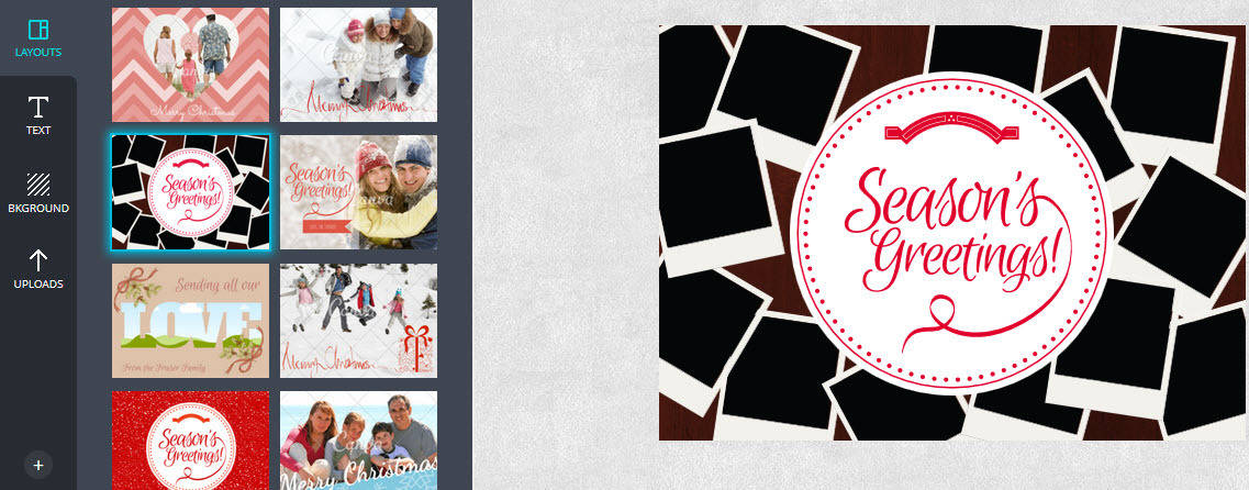 Select one of the many layout  themes to customise in Canva
