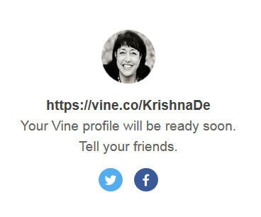 Share that you have your new url for Vine with your networks