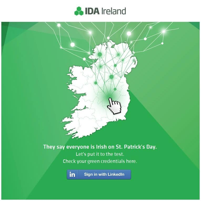 IDA Ireland invites people to find how Irish people are using their LinkedIn account