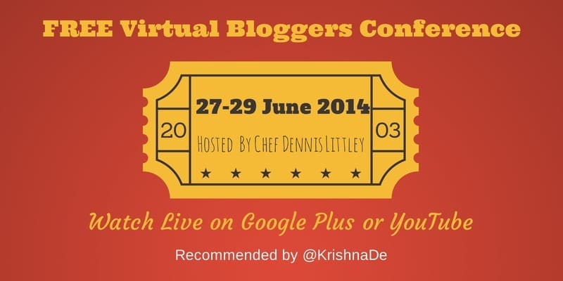 Free virtual bloggers conference hosted on Google Plus