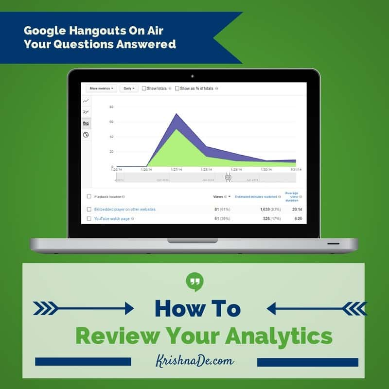 How to review the analytics of your Google Hangout On Air