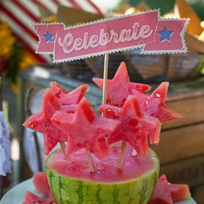 Add celebration banners to your food for your 4th July party