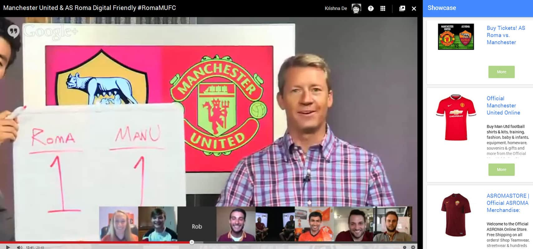 Promoting events with Google Hangouts On Air Showcase App