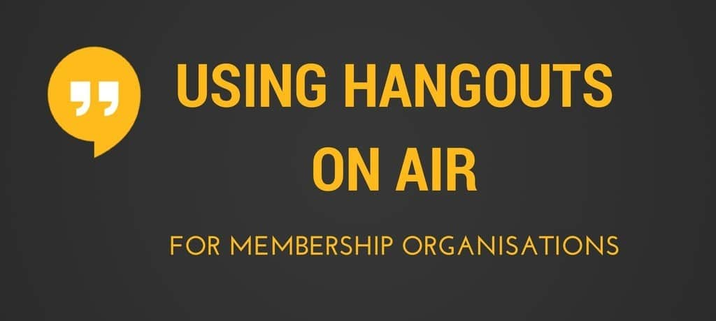 Hangouts On Air for membership organisations and an example from APPM for photo publishers and photo journalists