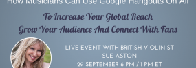 How musicians can use Google Hangouts On Air hosted by Krishna De