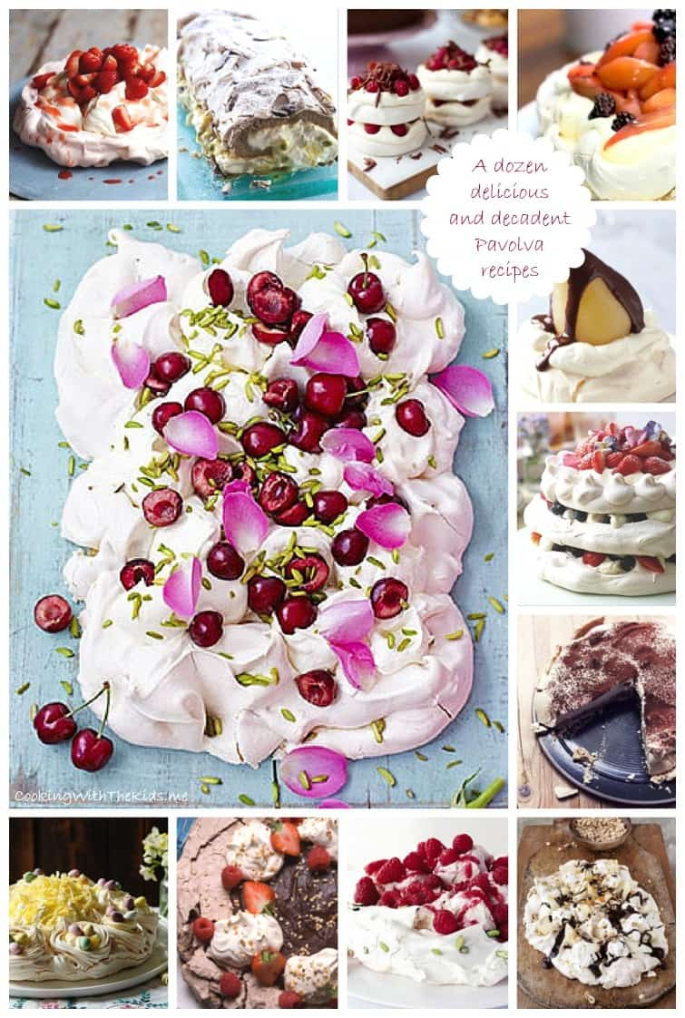 A dozen delicious and decadent Pavova recipes from Cooking With The Kids