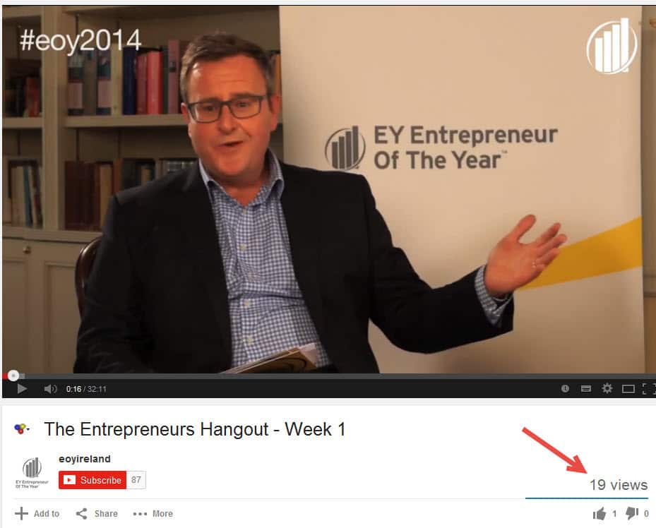 The Entrepreneurs Hangouts Week 1 For EY Entrepreneur Of The Year #eoy2014