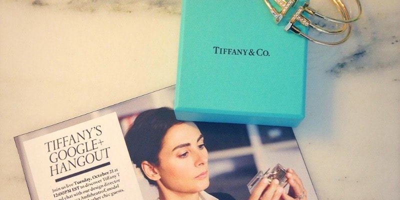 Tiffany and Co first shoppable Google Hangout on Air featuring their new collection