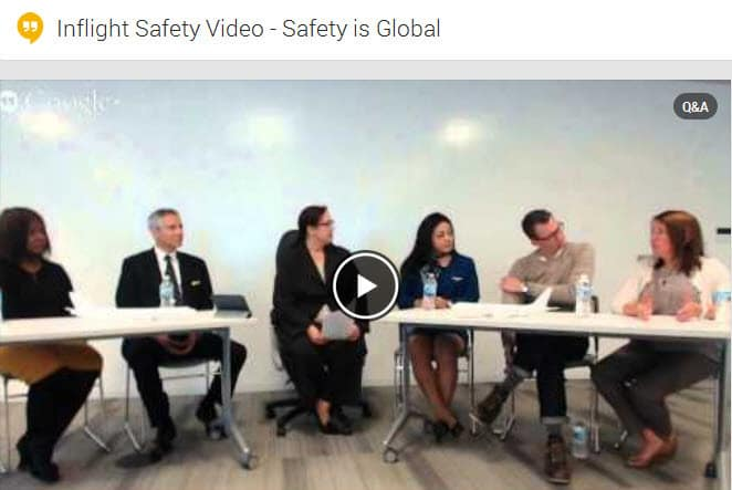 United Airlines hosts a Google Hangout to discuss the making of their global inflight safety video
