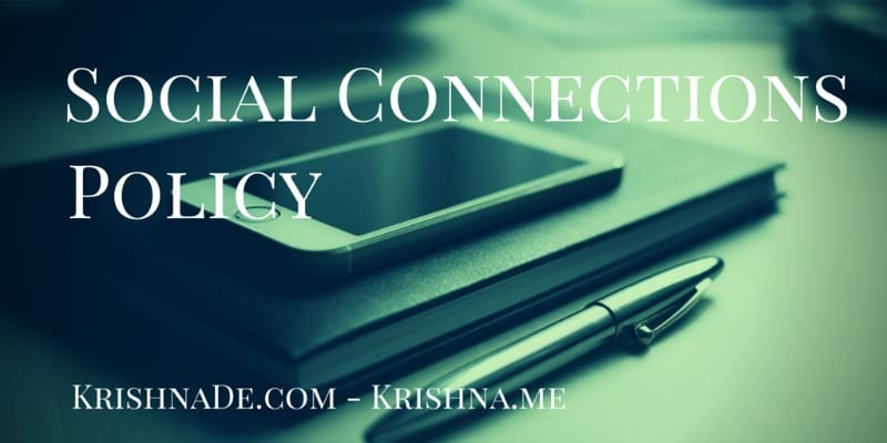 Social Media Governance And Social Connections Policy