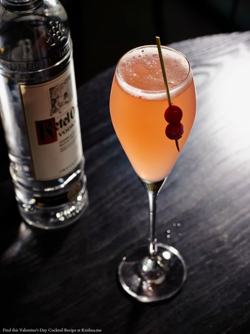 Recipe for Ketel One Berry Bubbles cocktail