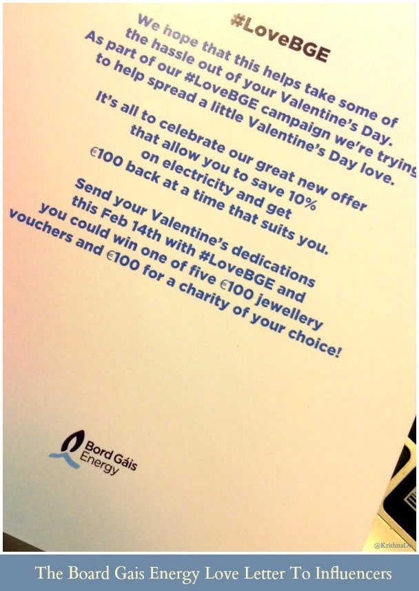 The love letter from Bord Gais Energy to influencers about their new elecricity offer