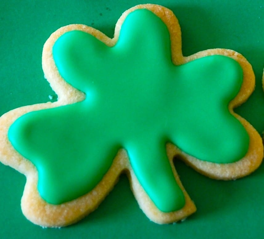 A recipe for Shamrock cookies for St Patrick's Day from Siucra Ireland
