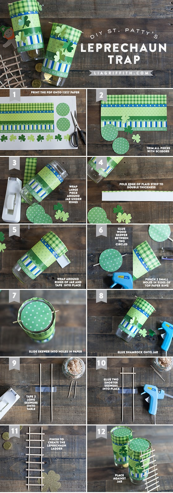 A visual guide to making a LeprechaunTrap for St Patrick's Day