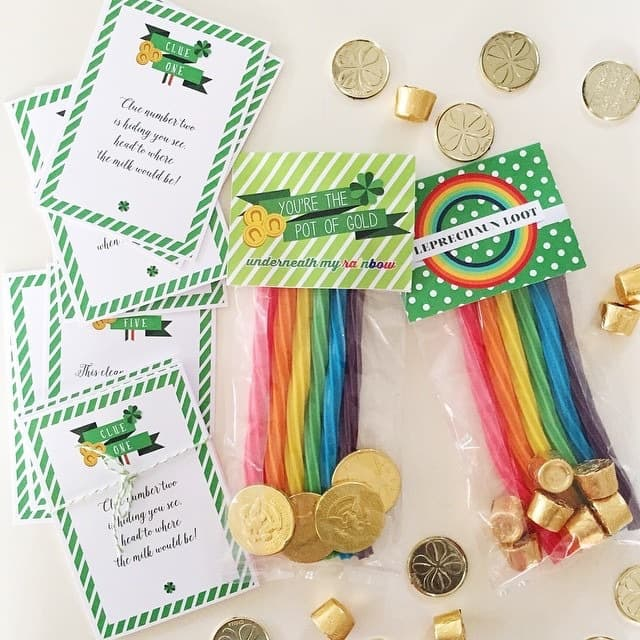 Celebrate in style with a St Patrick's Day treasure hunt and award prizes with fun bag toppers