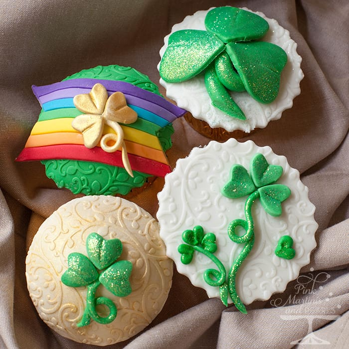 Discover how to decorate your St Patrick's Day cupcakes with fondant