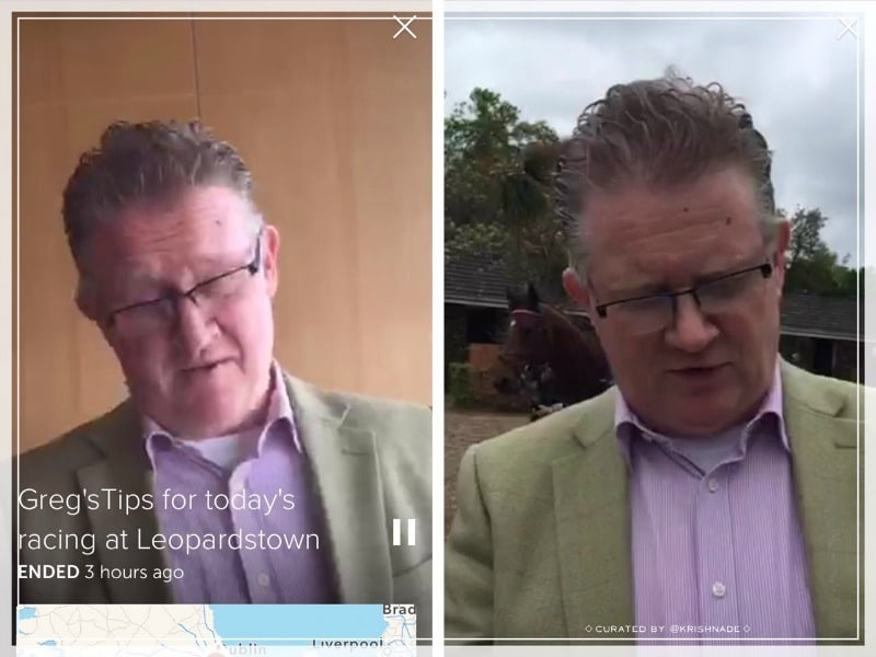 Leopardstown Racecourse in Dublin Ireland uses Periscope to share tips for their race day