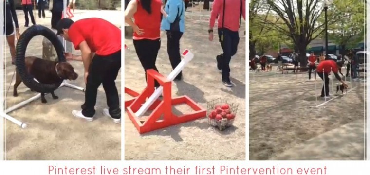 Pinterest promote their first live #Pinterventions event using live streaming app Periscope