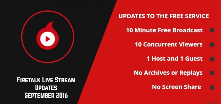 Changes to Firetalk Live Streaming Platform Announced Impacting Free Users