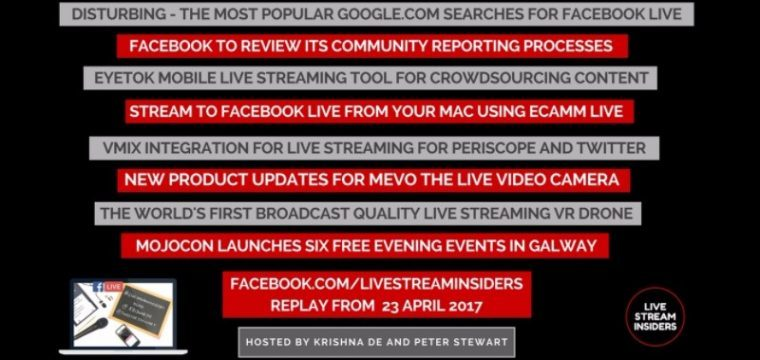 Live Stream News Week Commencing 23 April 2017