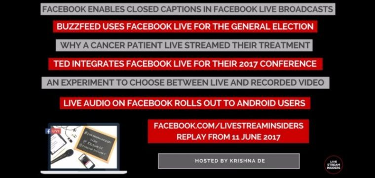 Live Stream News Week Commencing 11 June 2017