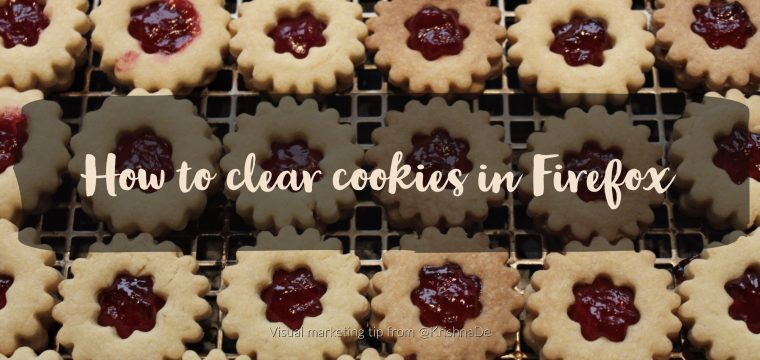 How to clear cookies for websites when using Firefox as your browser on desktop