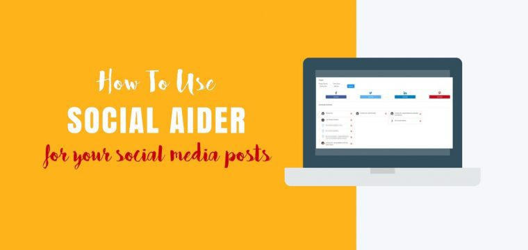 How to use Social Aider for your social media image posts