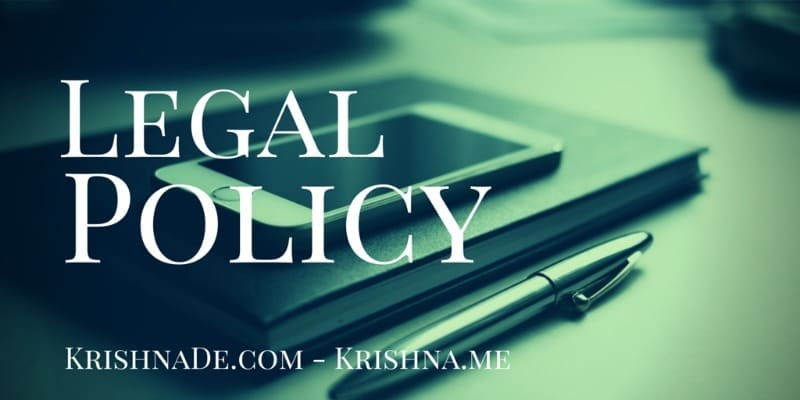 Legal Policy for Krishna De web properties