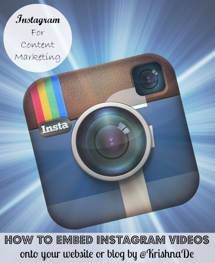 How to embed Instagram videos into your blog or website