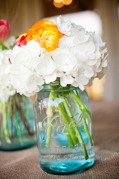 Blue Ball Heritage Collection Mason Jars are a great alternative to a plain vase