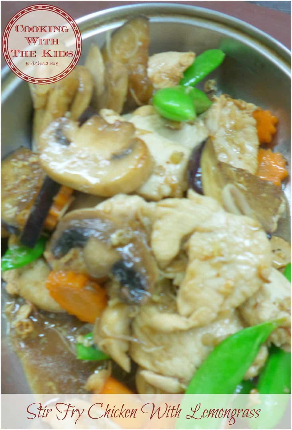Cooking With the Kids – Learning how to cook Thai Stir Fry Chicken With Lemongrass (Xao Xa Ot)