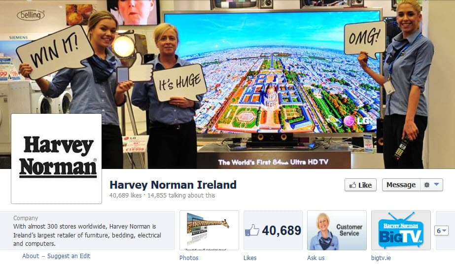 Example of a Facebook Page cover image promoting a Facebook competition