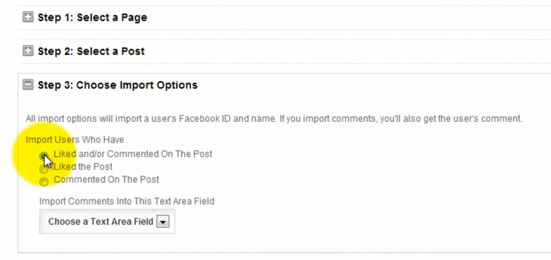 Shortstack Facebook competition app enables the import of comments and likes