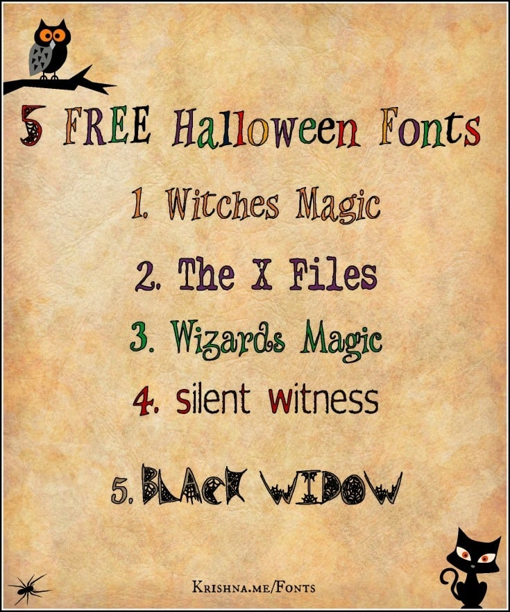 Five free Halloween fonts for your visual content marketing
