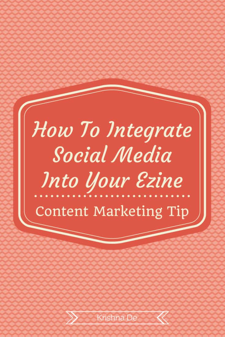 Integrating your social media channels into your ezine