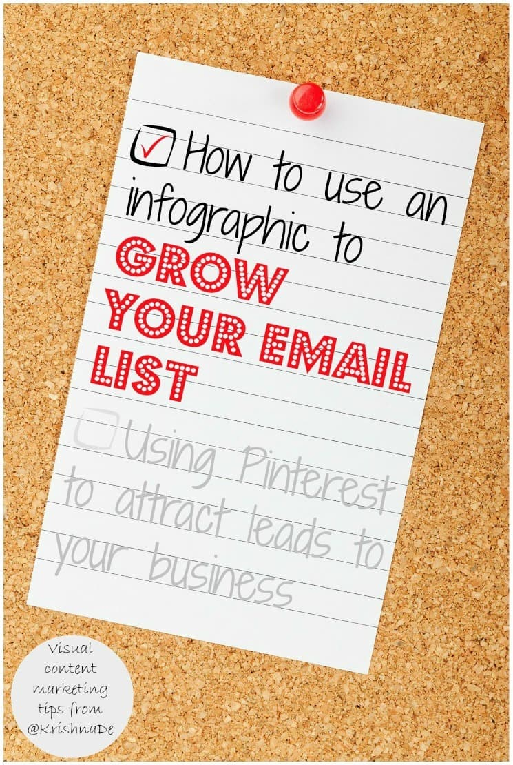 How to use an infographic to grow your email list - by Krishna De